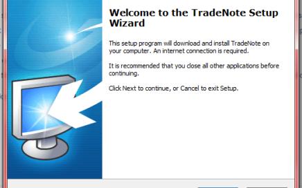 TradeNote Setup Dialog