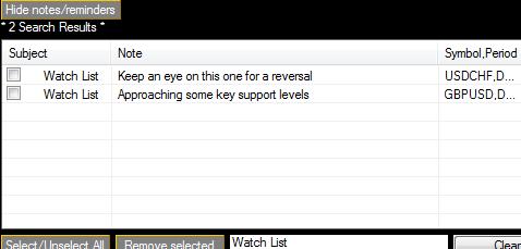 TradeNote Search
